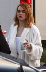 EMMA STONE on the Set of a Photoshoot at a Beach in Miami 04/25/2018