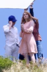EMMA STONE on the Set of a Photoshoot in Malibu 04/27/2018