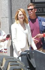 EMMA STONE Out and About in Los Angeles 04/28/2018