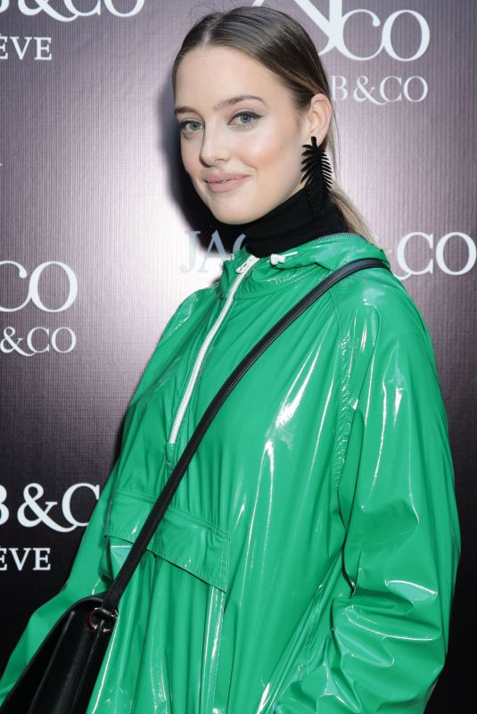 EMMA WALDRON at Jacob & Co. Flagship Store Re-opening in New York 04/26/2018