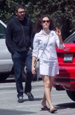 EMMY ROSSUM and Sam Esmail Out Shopping in Los Angeles 04/09/2018