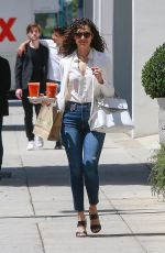 EMMY ROSSUM in Jeans Out in Beverly Hills 04/27/2018