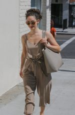 EMMY ROSSUM Leaves a Nail Salon in Beverly Hills 04/21/2018