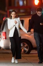 EMMY ROSSUM Night Out in Los Angeles 04/19/2018