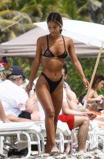 ERIKA WHEATON in Bikini at a Beach in Miami 03/31/2018