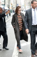 EVAN RACHEL WOOD Leaves Her Hotel in New York 04/19/2018
