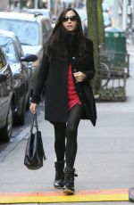 FAMKE JANSSEN Out and About in New York 04/02/2018