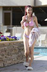 FARRAH ABRAHAM in Bikini at a Pool at Coachella Music Festival 04/14/2018