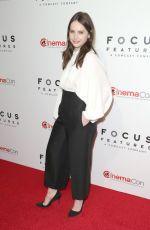 FELICITY JONES at Focus Features Presentation at Cinemacon in Las Vegas 04/25/2018