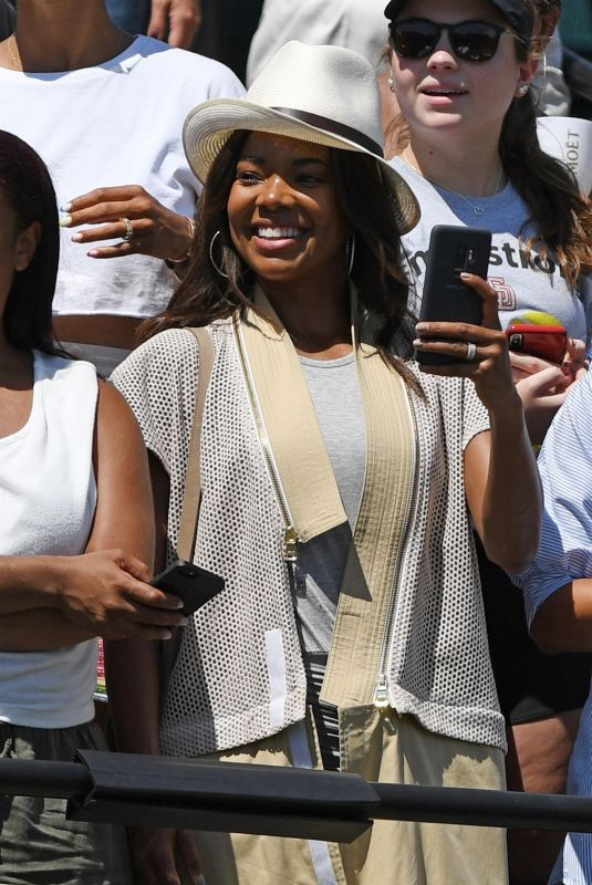 GABRIELLE UNION at 2018 Miami Open Final in Key Biscayne 03/31/2018
