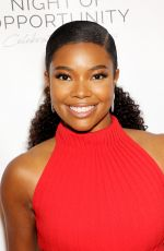 GABRIELLE UNION at Night of Opportunity Gala in New York 04/09/2018
