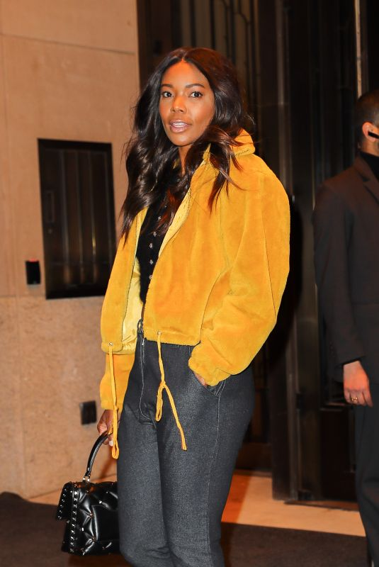 GABRIELLE UNION Leaves Her Hotel in New York 04/07/2018