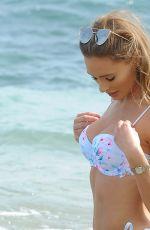 GEORGIE CLARKE in Bikini on the Beach in Marbella 04/05/2018
