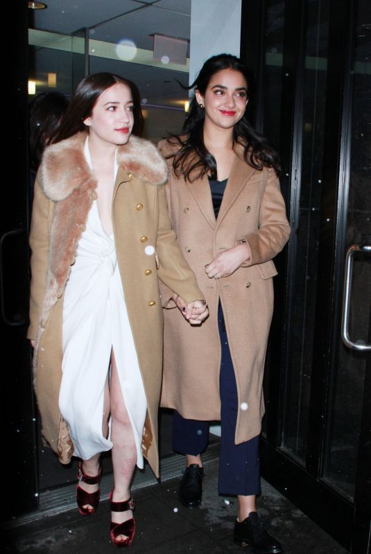 GIDEON ADLON and GERALDINE VISWANATHAN Leaves Good Day New York 04/02/2018