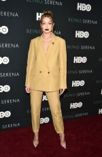 GIGI HADID at Being Serena. Her Story. Her Words Premiere in New York 04/25/2018