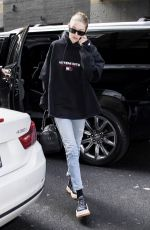 GIGI HADID Heading to a Photoshoot in New York 04/10/2018