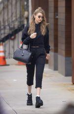GIGI HADID Heading to a Salon in New York 04/27/2018