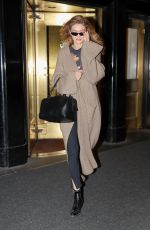 GIGI HADID Leaves Carlyle Hotel in New York 04/17/2018