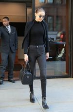 GIGI HADID Leaves Her Apartment in New York 04/11/2018