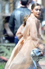 GIGI HADID on the Set of a Photoshoot in New York 04/05/2018