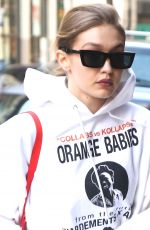 GIGI HADID Out and About in New York 04/05/2018