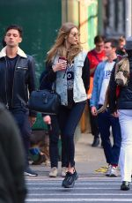 GIGI HADID Out and About in New York 04/21/2018