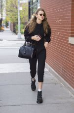 GIGI HADID Out in New York 04/27/2018