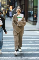 GIGI HADID Out in New York 04/28/2018