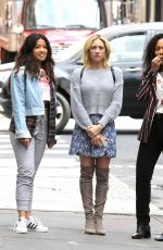 GINA RODRIGUEA, ROSARIO DAWSON, BRITTANY SNOW and DEWANDA WISE on the Set of Someone Great in New York 04/18/2018