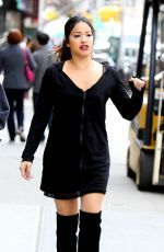 GINA RODRIGUEZ on the Set of Someone Great in New York 04/13/2018