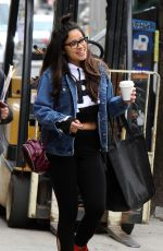 GINA RODRIGUEZ on the Set of Someone Great in New York 04/16/2018
