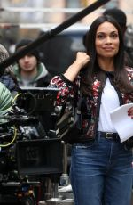 GINA RODRIGUEZ, ROSARIO DAWSON, BRITTANY SNOW and DEWANDA WISE on the Set of Someone Great in New York 04/18/2018
