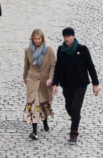 GWYNETH PALTROW and Chris Martin Out in Paris 04/01/2018