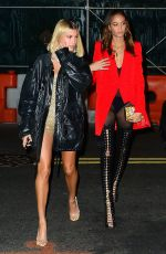 HAILEY BALDWIN and JOAN SMALLS Arrives at Gigi
