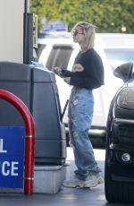 HAILEY BALDWIN at a Gas Station in Beverly Hills 04/17/2018