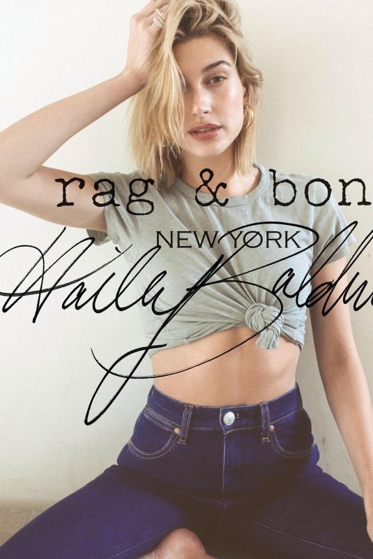 HAILEY BALDWIN for Rag & Bone DIY Project in New York, April 2018