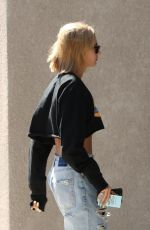 HAILEY BALDWIN Out on Melrose Place in Los Angeles 04/17/2018