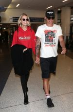 HAILEY CLAUSON and Julian Herrera at LAX Airport in Los Angeles 04/06/2018