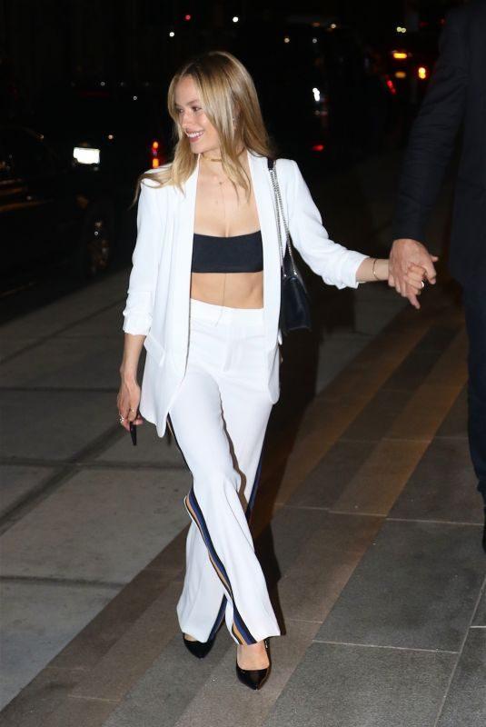 HANNAH FERGUSON Arrives at Gigi's Birthday Party in New York 04/23/2018