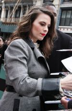 HAYLEY ATWELL Arrives at Build Series in New York 04/05/2018