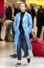 HAYLEY ATWELL at Heathrow Airport in London 04/16/2018