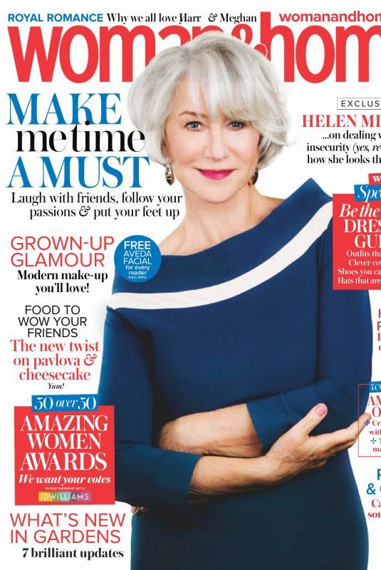 HELEN MIRREN in Woman&home Magazine, June 2018