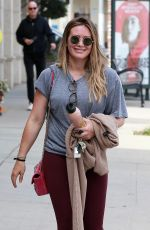 HILARY DUFF Heading to a Gym in Los Angeles 03/31/2018