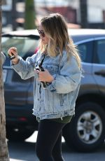HILARY DUFF Leaves a Gym in Studio City 04/28/2018