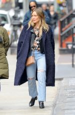 HILARY DUFF Out and About in New York 04/01/2018