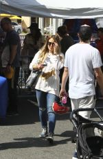 HILARY DUFF Out at Farmers Market in Los Angeles 04/29/2018