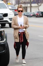 HILARY DUFF Out in Los Angeles 04/07/2018