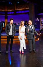 HILARY SWANK at Late Late Show with James Corden 03/28/2018