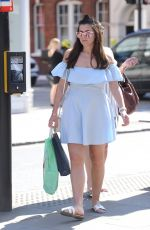 IMOGEN THOMAS Out Shopping at Kings Road in London 04/19/2018