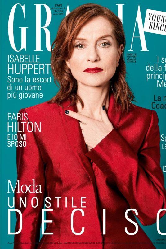 ISABELLE HUPPERT in Grazia magazine, April 2018